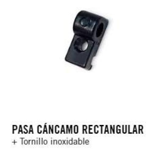 PASA CÁNCAMO RECTANGULAR + Tornillo inoxidable