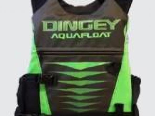 Chaleco aquafloat Kayak Dingey Verde Flúo