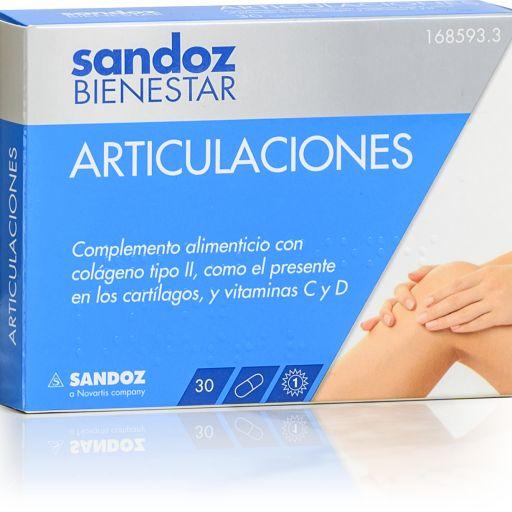SANDOZ BIENESTAR ARTICULACIONES 30 CAPSULAS