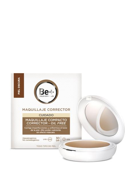 BE+ MAQUILLAJE COMPACTO CORRECTOR SPF30 OIL-FREE PIEL OSCURA 10g