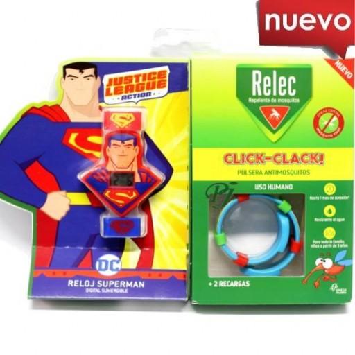 RELEC PULSERA ANTIMOSQUITOS + RELOJ DIGITAL