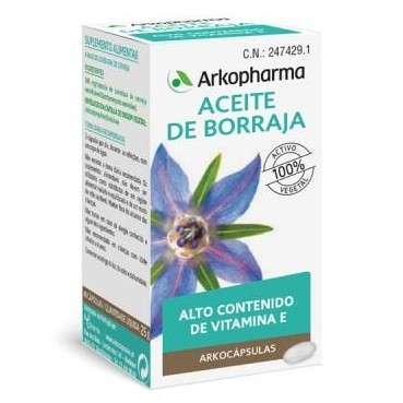 ARKOCAPSULAS ACEITE DE BORRAJA 50 CAPS
