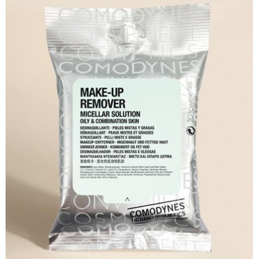 COMODYNES MAKE-UP REMOVER OILY & COMBINATION SKIN 20T