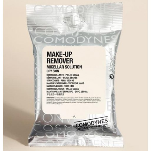 COMODYNES MAKE-UP REMOVER MICELLAR DRY SKIN 20T