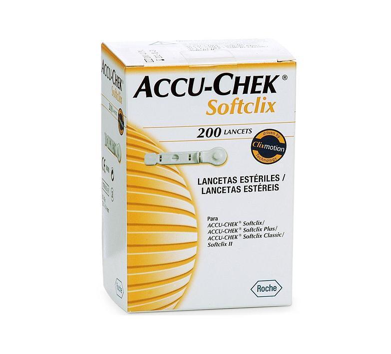 ACCU-CHEK SOFTCLIX LANCETAS  200 UNIDADES
