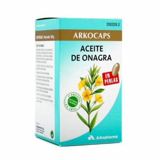 ARKOCAPS ACEITE ONAGRA 200 PERLAS