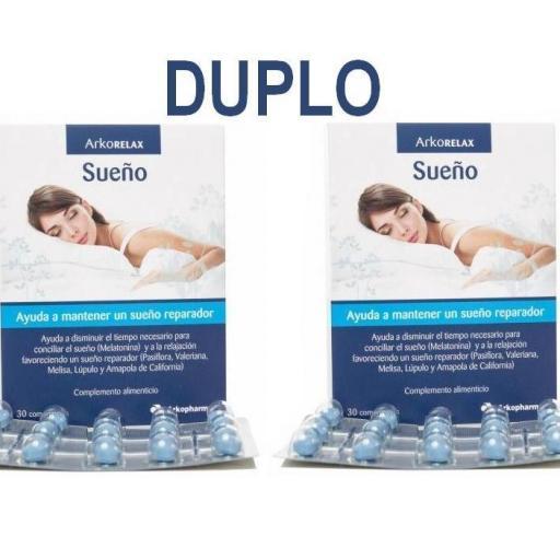 ARKORELAX SUEÑO DUPLO 2 X 30 COMPRIMIDOS