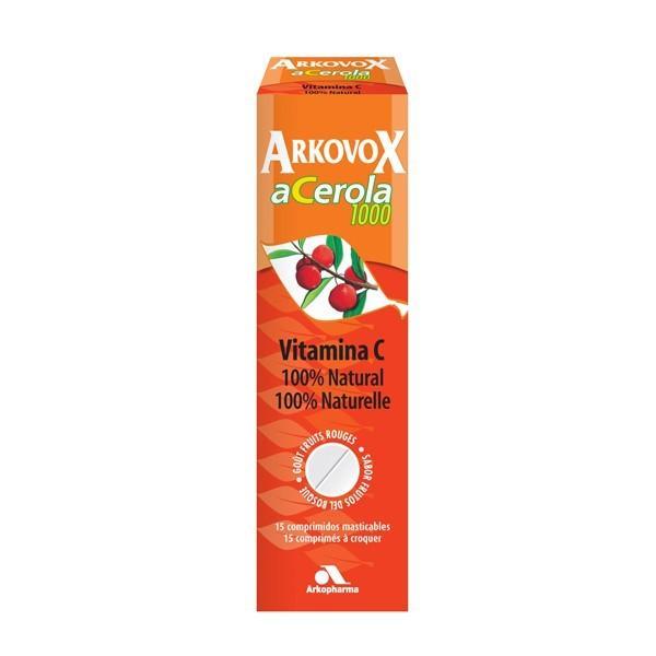 ARKOVOX ACEROLA 1.000 GR 15 COMPRIMIDOS MASTICABLES