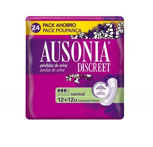 AUSONIA DISCREET NORMAL 24 UNIDADES