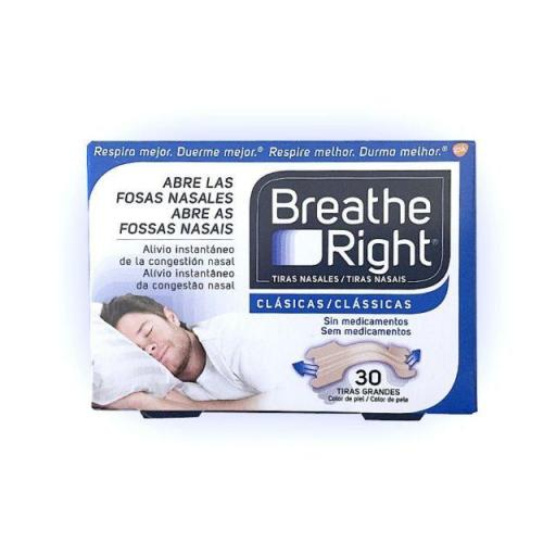 TIRA NASAL BREATHE RIGHT TALLA GRANDE 30 UNIDADES