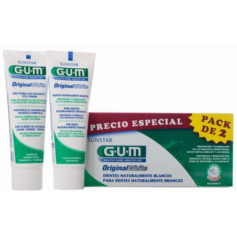GUM DUO PACK WHITE PASTA 2X75 ML