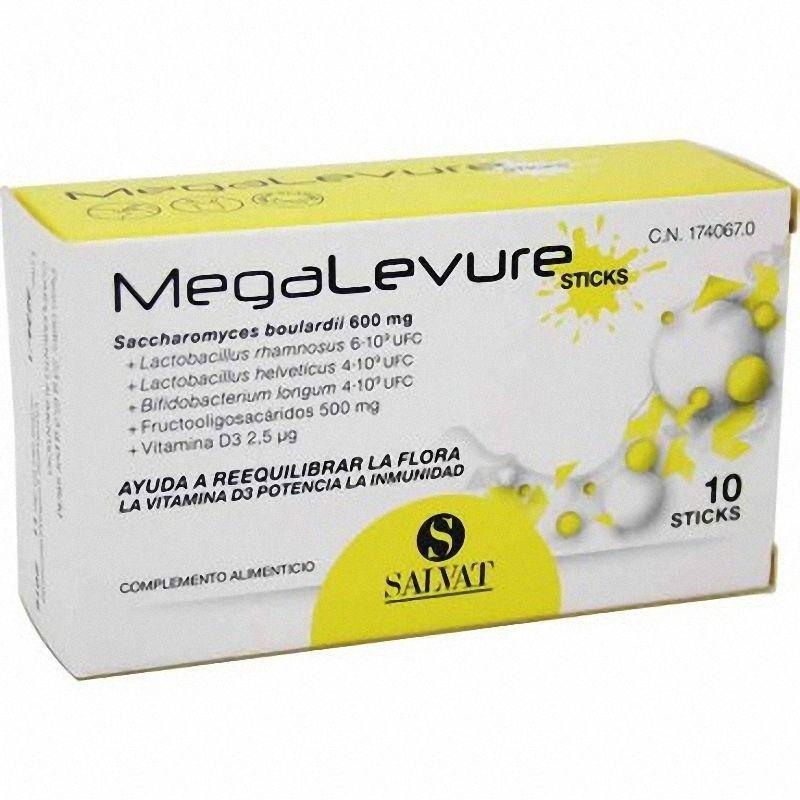 MEGALEVURE PROBIOTICO 10 STICKS