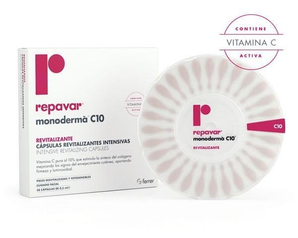 REPAVAR MONODERMA C10 28 CAPSULAS REVITALIZANTES