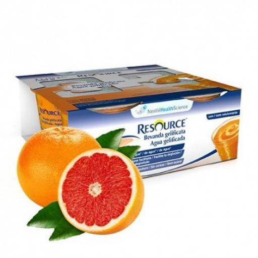 RESOURCE AGUA GEL POMELO 4 x 125 ML