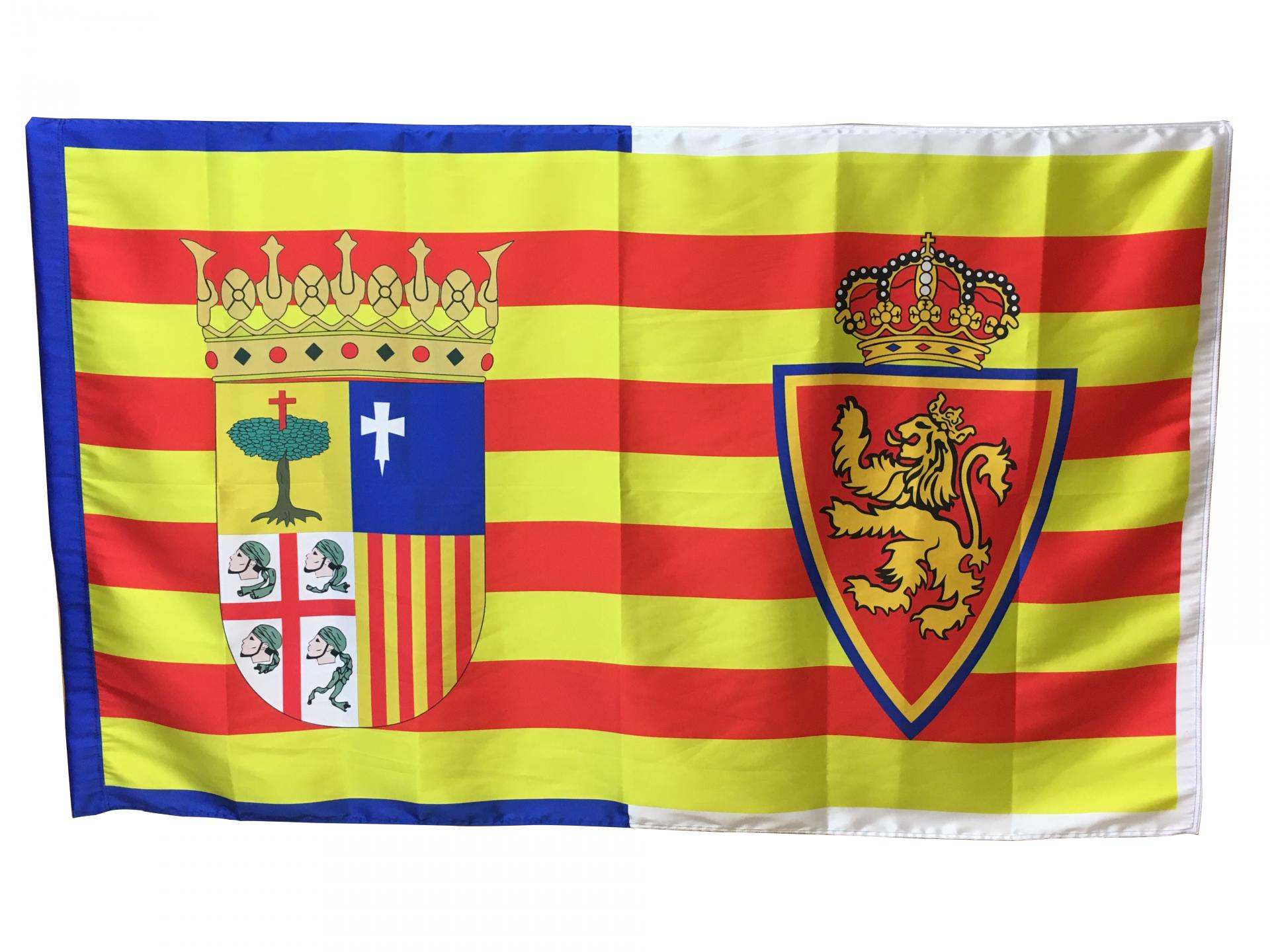 Bandera oficial Real Zaragoza + escudo Aragón