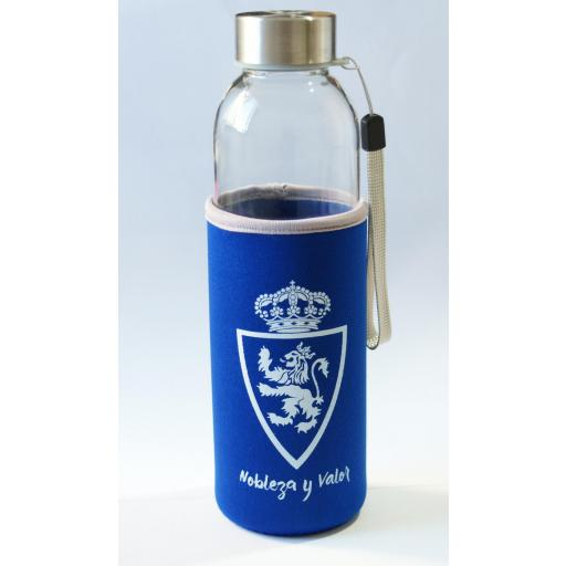 Botella cristal reutilizable