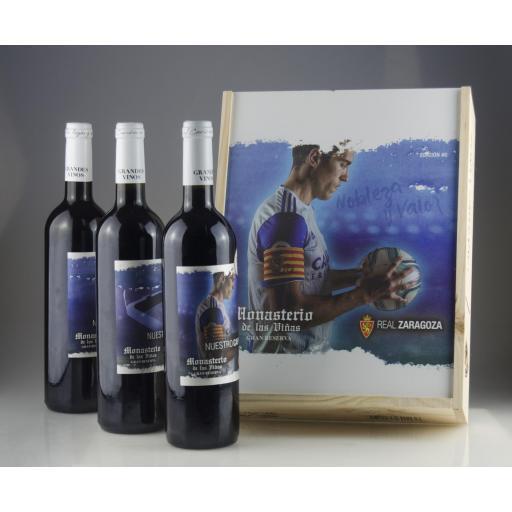 Caja de madera premium vino Real Zaragoza EDICIÓN#0 [3]