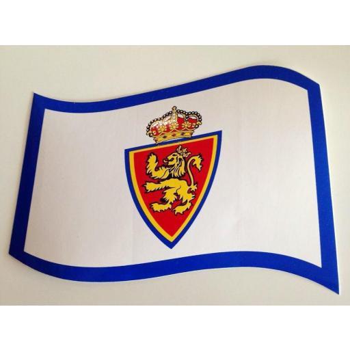 Pegatina bandera Real Zaragoza