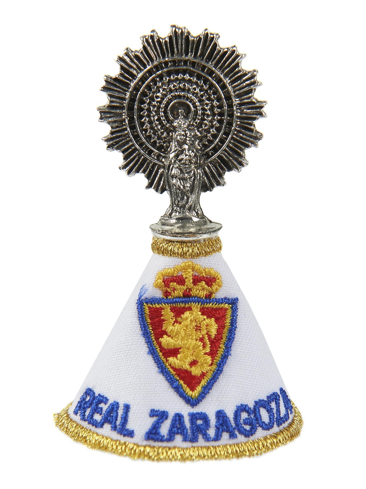 Virgen del Pilar con manto Real Zaragoza