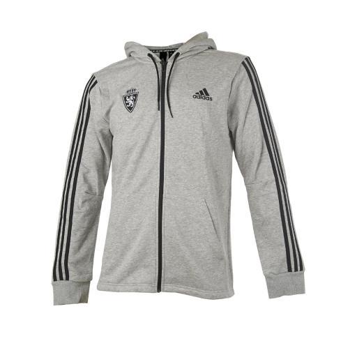 Chaqueta adidas capucha gris/negro