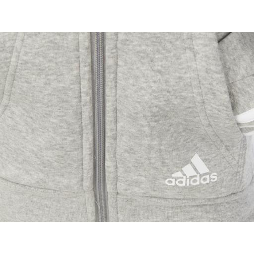 Chaqueta con capucha adidas gris  [2]