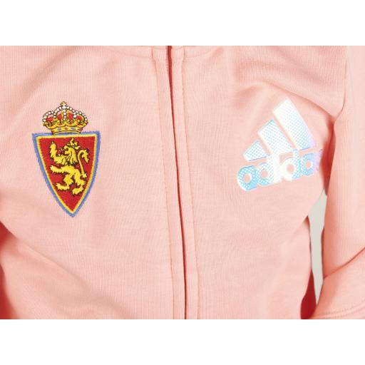 Chaqueta capucha rosa adidas [1]