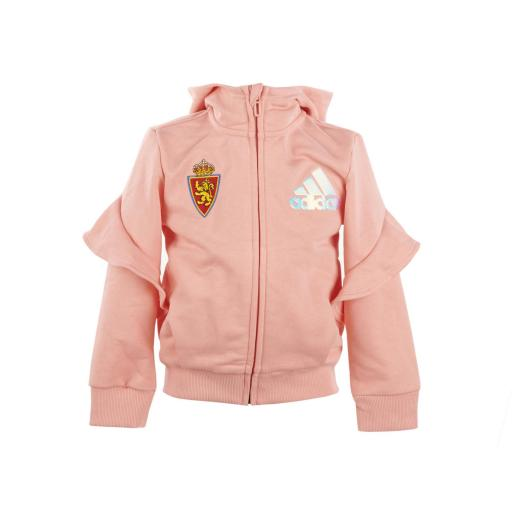 Chaqueta capucha rosa adidas