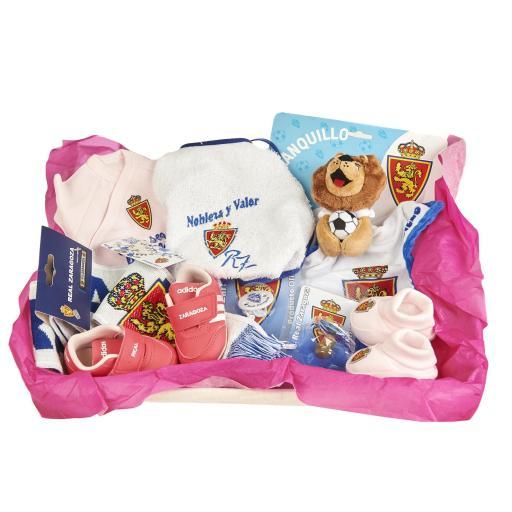 Cesta recién nacido rosa (Personalizable)