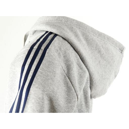Chaqueta adidas capucha gris  [1]