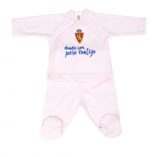 Jubón recién nacido rosa