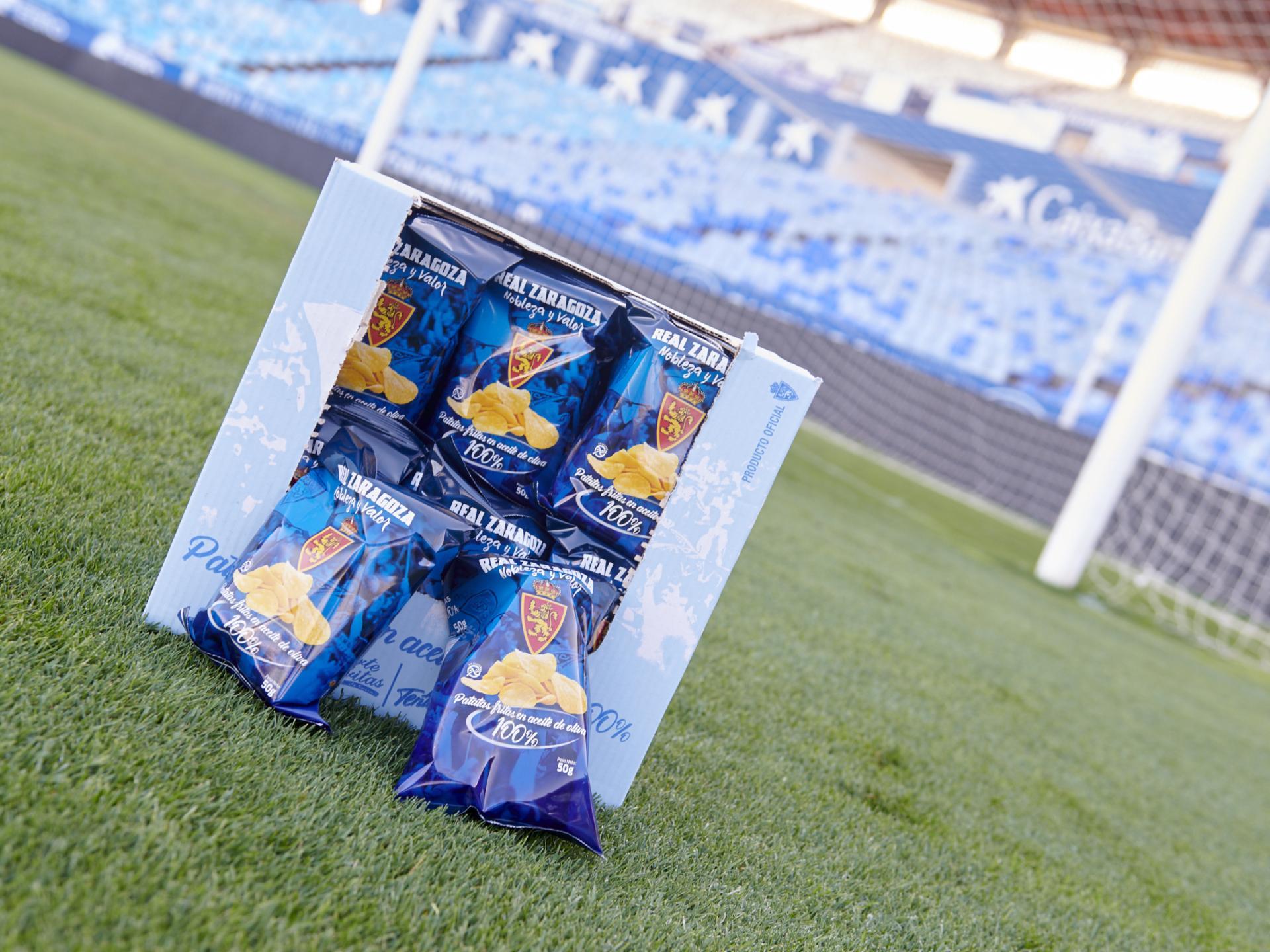 Patatas fritas Real Zaragoza (caja de 24 bolsas)