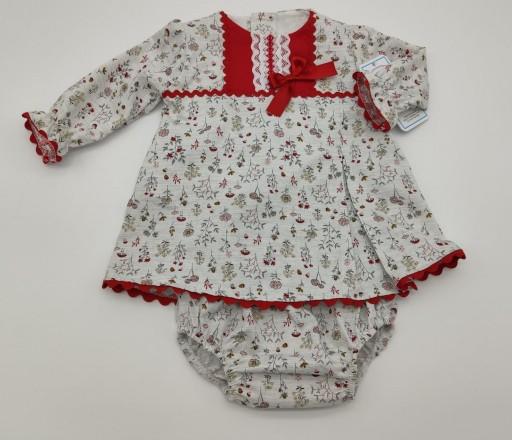 Vestido de niña en tonos rojos  [0]