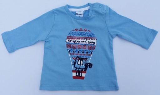 Camiseta niño algodón gato en globo y pantalón [1]