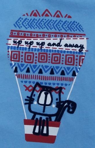 Camiseta niño algodón gato en globo y pantalón [2]