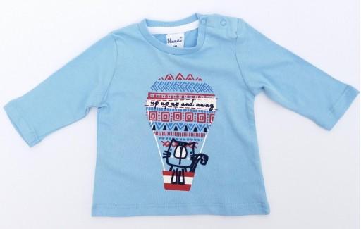 Camiseta niño algodón gato en globo y pantalón [3]