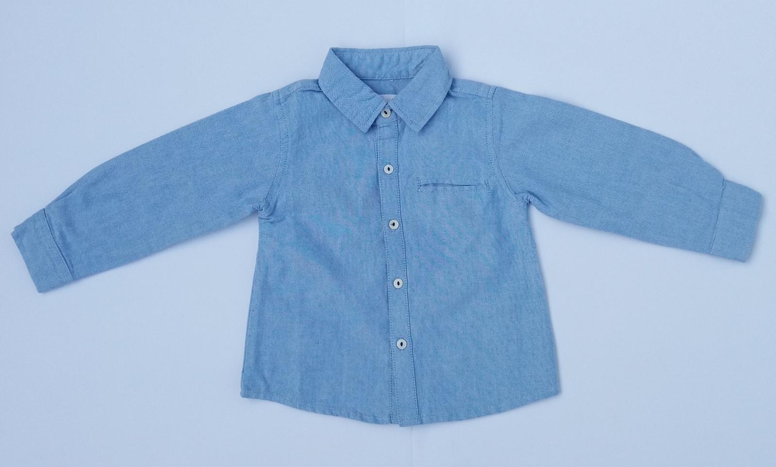 Camisa lisa oxford celeste