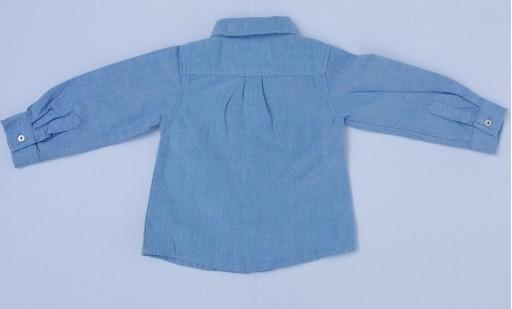 Camisa lisa oxford celeste [1]