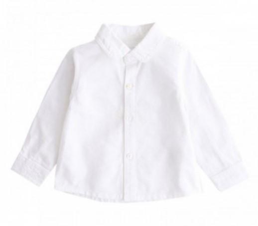 Camisa lisa oxford blanca