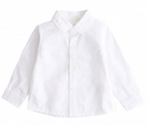 Camisa lisa oxford blanca