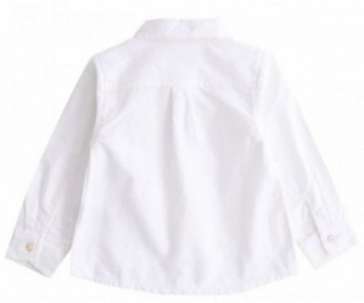 Camisa lisa oxford blanca [1]