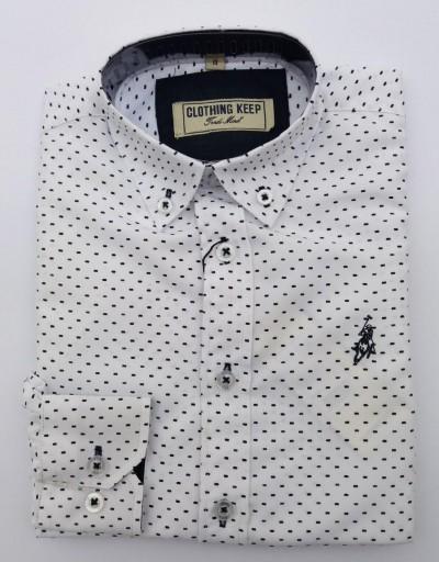 Camisa blanca jaspeada niño