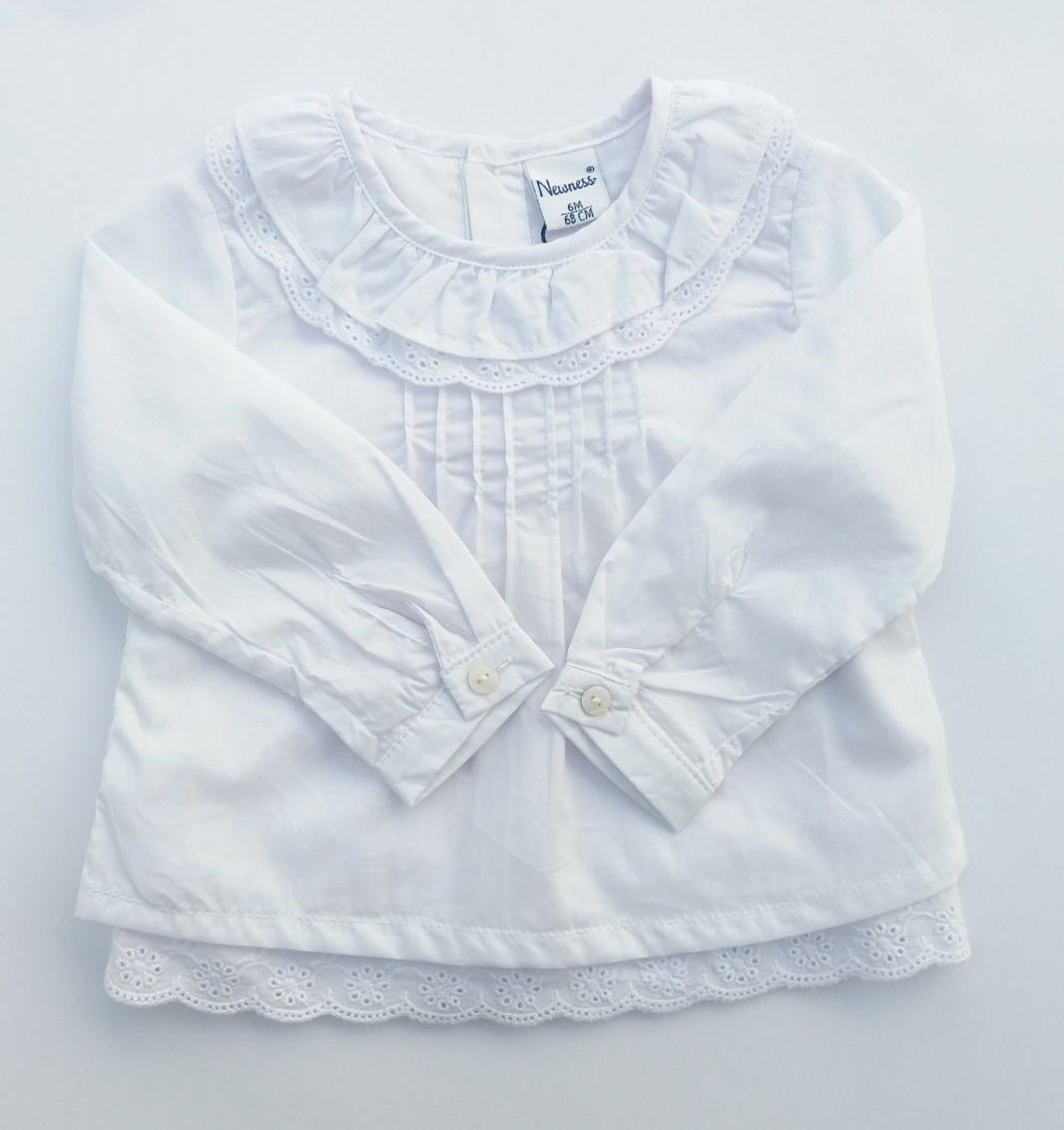 Camisa de bebé cuello doble