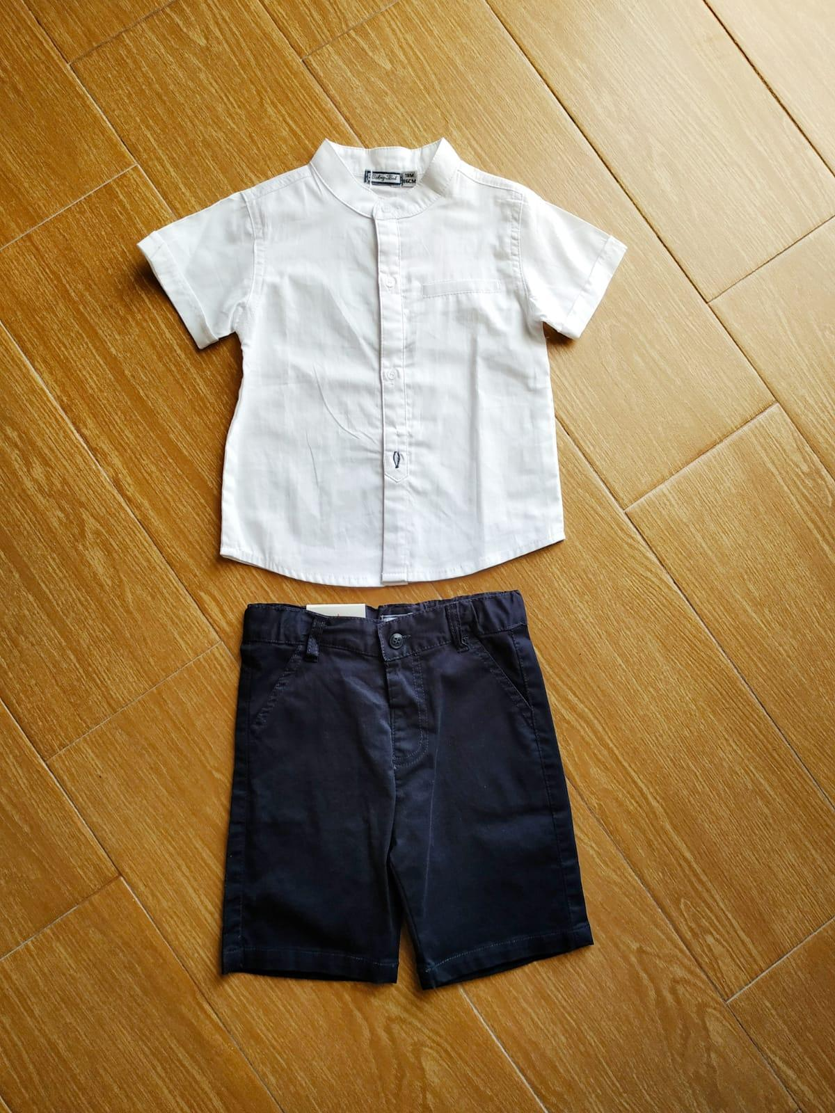 Conjunto camisa y pantalón marino