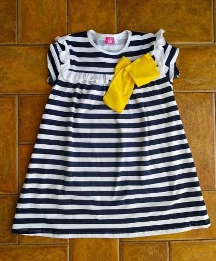 Vestido rayas marino [0]