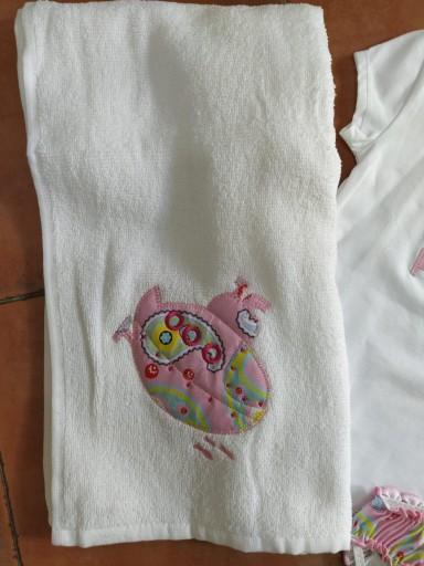 Conjunto bañador submarino rosa y toalla [2]