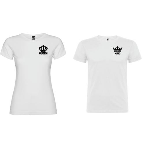 2 Camisetas original King Queen Blanco