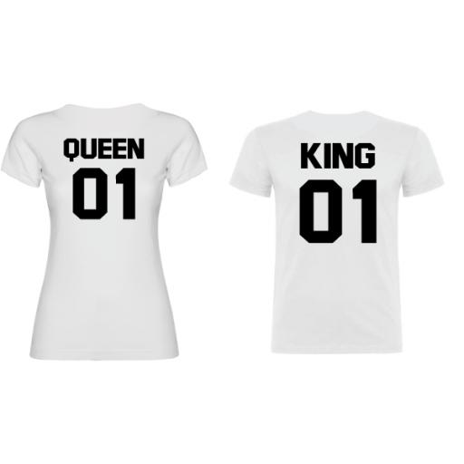 2 Camisetas original King Queen Blanco [1]