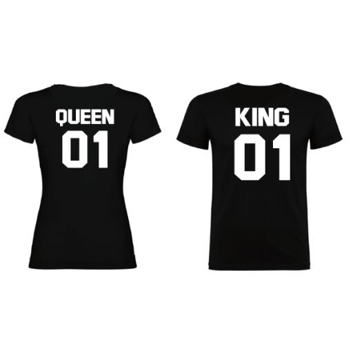 2 Camisetas original King Queen Negro [1]