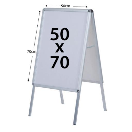 Caballete Publicitario 50x70cm doble cara [1]