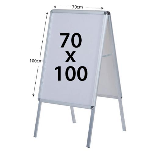 Caballete Publicitario 70x100cm doble cara [1]